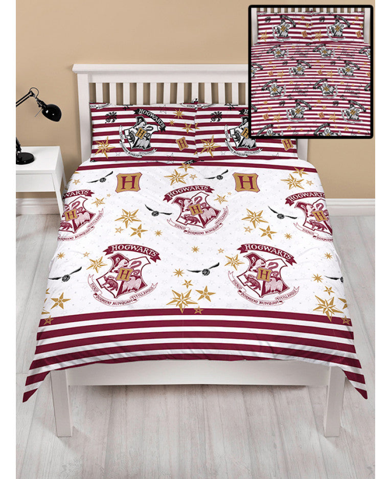 Harry Potter Muggles Double/Queen Duvet Cover and Pillowcase Set - Rotary Design