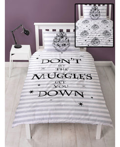 Harry Potter Spell Single Duvet Cover and Pillowcase Set