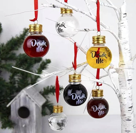 50ml Plastic Fillable Baubles