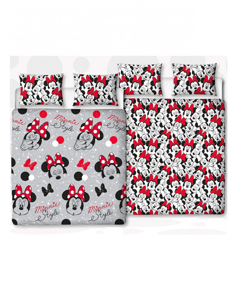 Minnie Mouse Cute Double/Queen Duvet Cover and Pillowcase Set