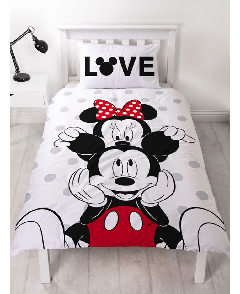 Mickey and Minnie Mouse Beyond Single Duvet Cover Set