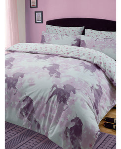 Unicorn Dreams King Size Duvet Cover And Pillowcase Set