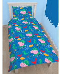 Peppa Pig George Roarsome Single Duvet Cover Set