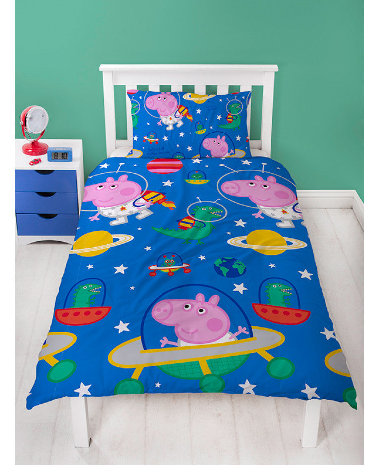 Peppa Pig George Planets Single Duvet Cover Set