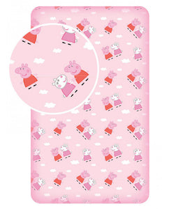 Peppa Pig Cloud Single Fitted Sheet