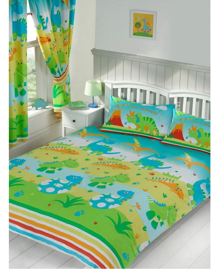 Roar Like a Dinosaur Double/Queen Duvet Cover and Pillowcase Set