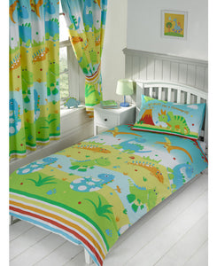 Roar Like a Dinosaur Single Duvet Cover and Pillowcase Set