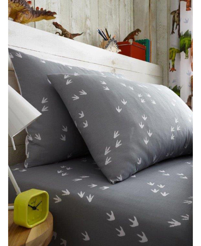 Rawrsome Dinosaur Single Fitted Sheet and Pillowcase Set