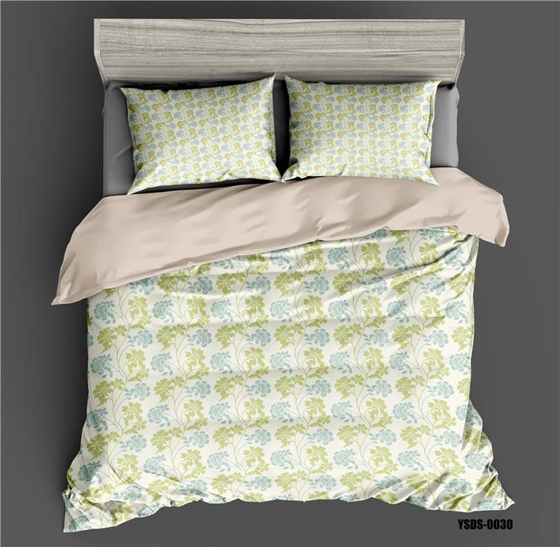 50121 Floral series 3D  Printed Cotton Bedding Duvet Cover Set pillowcase