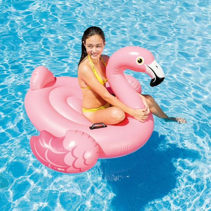 Boia Bote Flamingo Rosa 57558 Intex