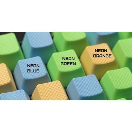 Tai Hao ABS Double shot keycap -8 keys TPR Neon Green