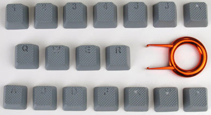Tai Hao ABS Double shot keycap -18keys TPR NEON GREY