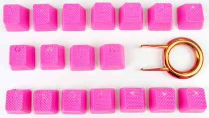 Tai Hao ABS Double shot keycap -18keys TPR Neon Pink