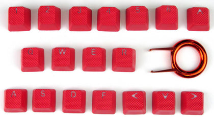 Tai Hao ABS Double shot keycap -18keys TPR RED