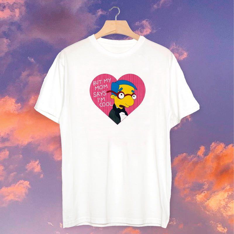"Polera Milhouse ""Pero mi mamá dice que soy Cool"" - Space Store Chile"
