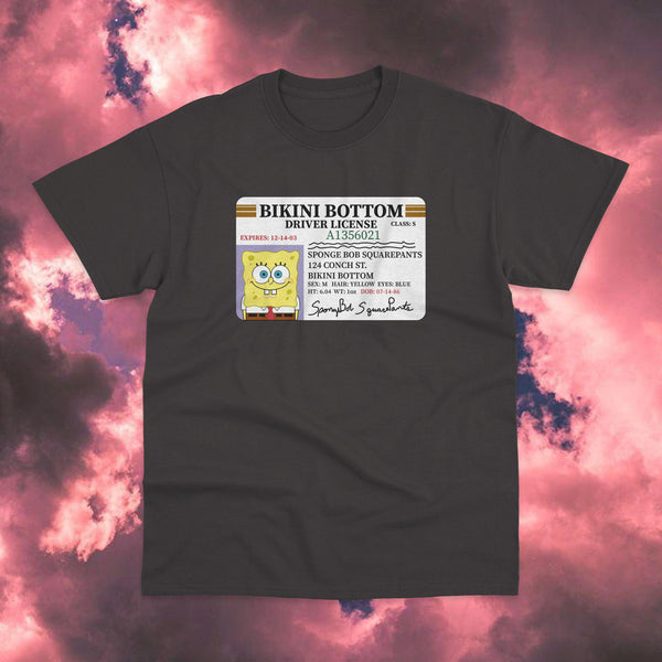 Polera Bob Esponja Driver License - Space Store Chile