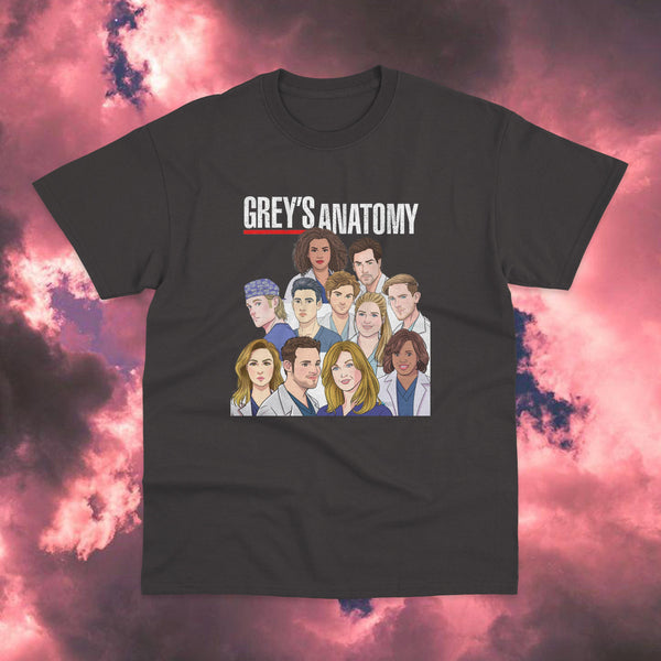 Polera Greys Anatomy Cast Model 2 - Space Store Chile