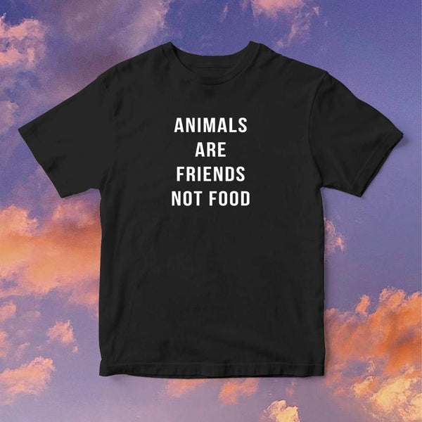 Polera Animals Are Friends not Food - Space Store Chile