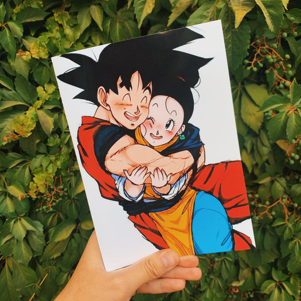 Tarjeta de Amor Dragon Ball Z Goku & Milk - Space Store Chile