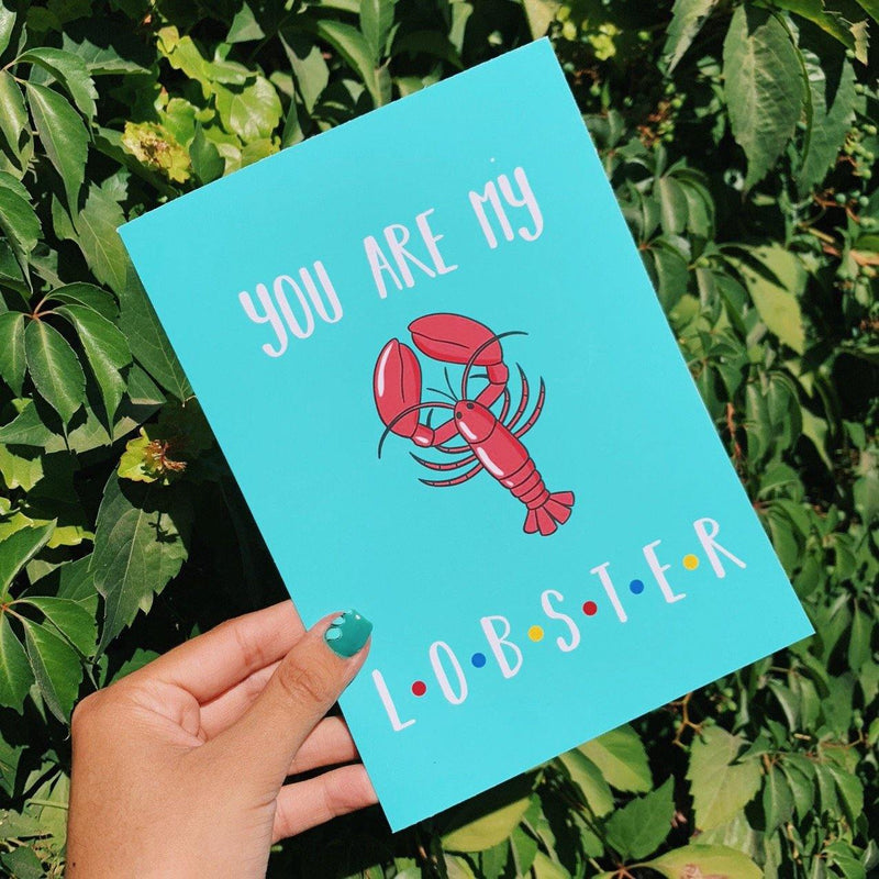 Tarjeta Friends You are my Lobster