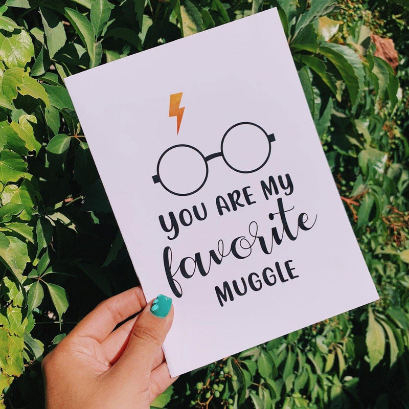 Tarjeta Harry Potter You are my favorite Muggle
