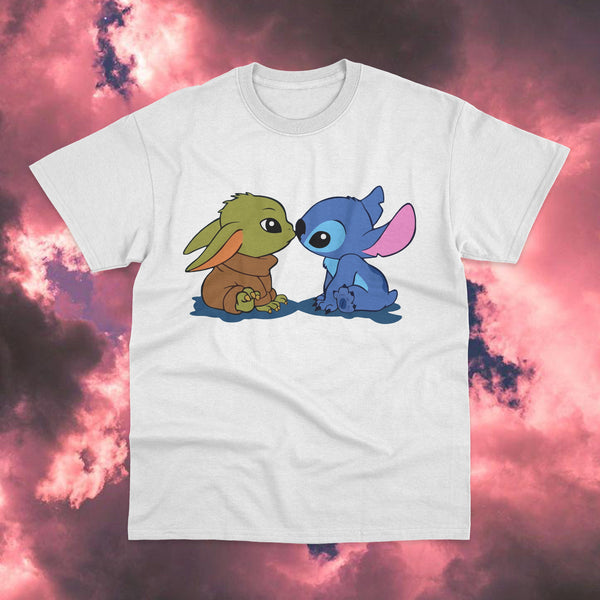 Polera Stitch y Baby Yoda - Space Store Chile