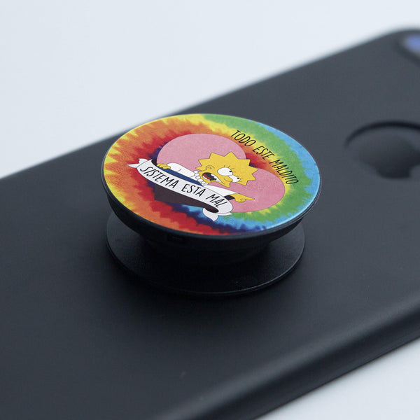 Pop Socket Lisa Maldito Sistema Hippie - Space Store Chile