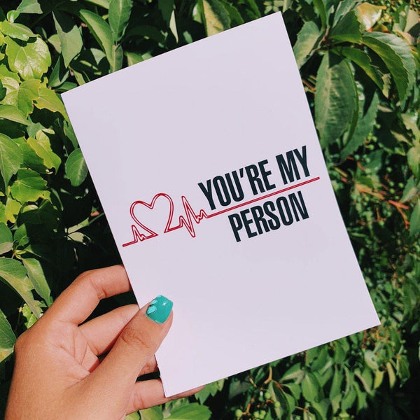 Tarjeta Greys Anatomy You're My Person - Space Store Chile
