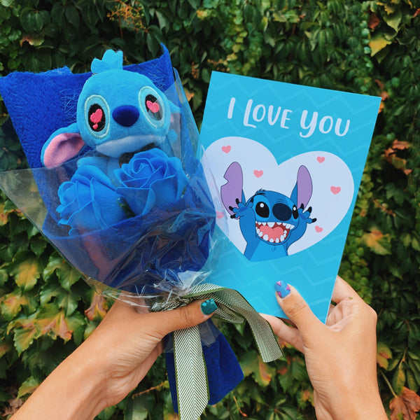 Ramo de Stitch + Tarjetita de Regalo - Space Store Chile