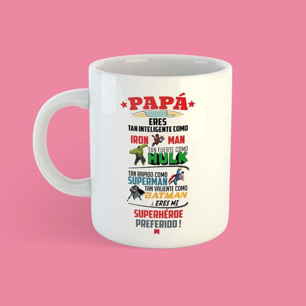 Taza Día del Padre Superhéroes Frases - Space Store Chile