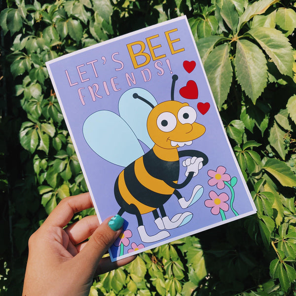 Tarjeta de Amistad Let's Bee Friends - Space Store Chile