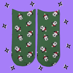 Socks Mickey Mouse Patron Navidad - Space Store Chile