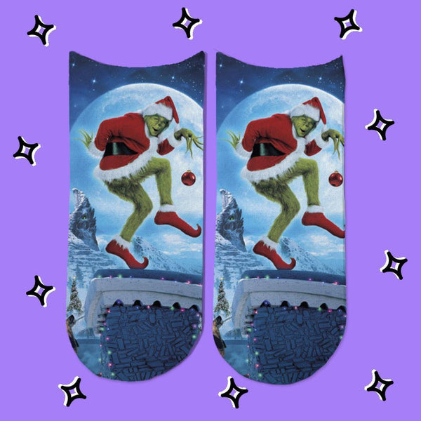 Socks El Grinch Modelo 2 - Space Store Chile