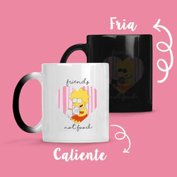 Taza Cambia Color Friends Not Food - Space Store Chile