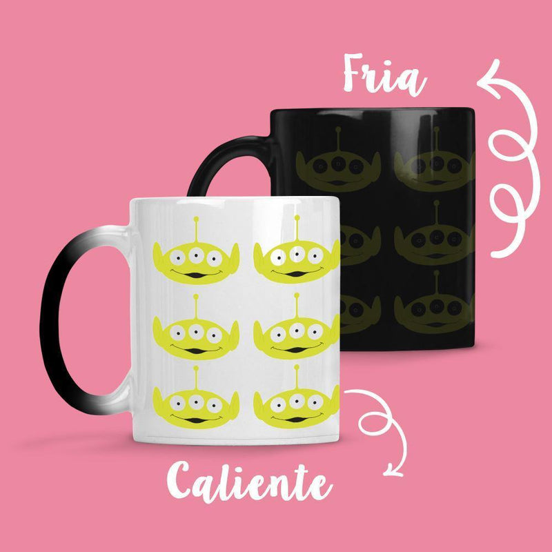 Taza Cambia Color Aliens - Space Store Chile