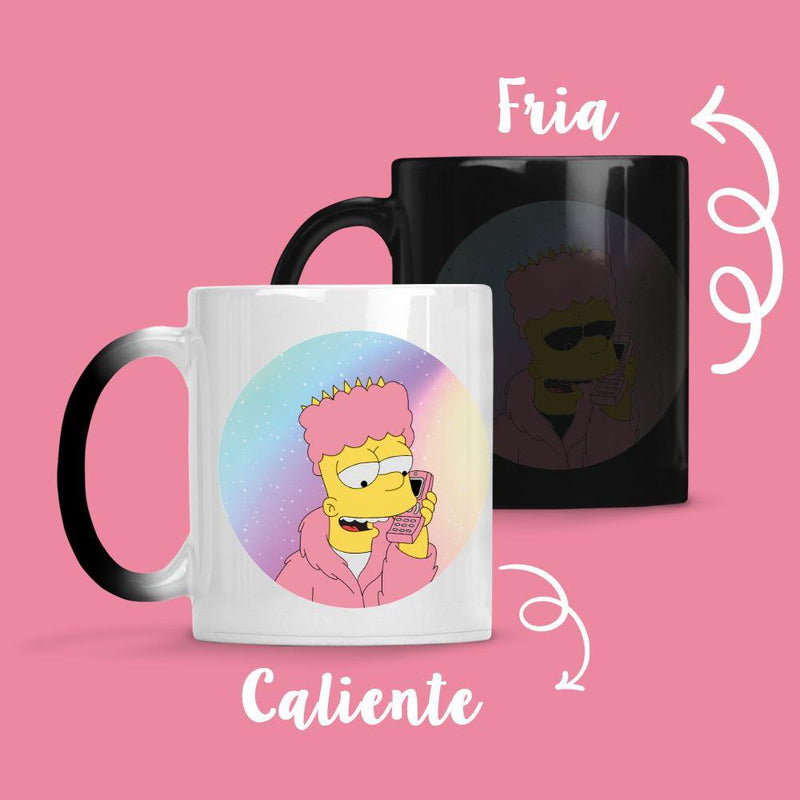 Taza Cambia Color Bart - Space Store Chile