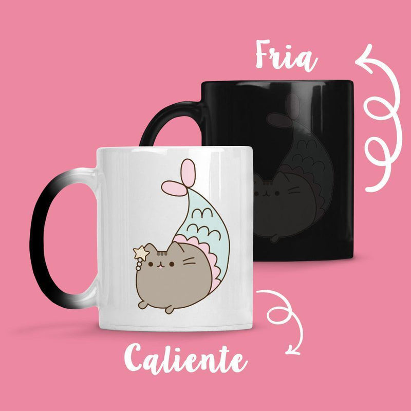 Taza Cambia Color Pusheen Sirena - Space Store Chile