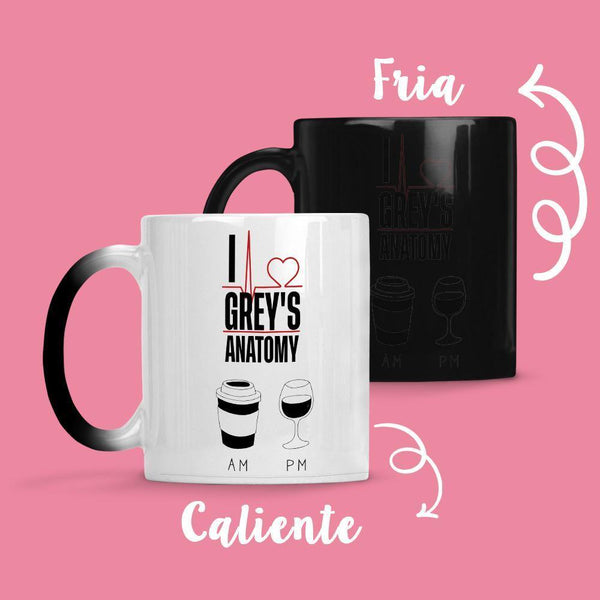 Taza Cambia Color Greys Anatomy AM-PM - Space Store Chile