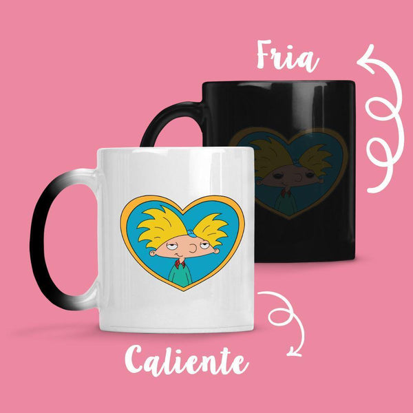Taza Cambia Color Hey Arnol Heart - Space Store Chile