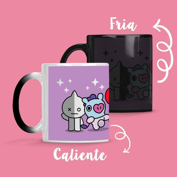 Taza Cambia Color BT21 Lila - Space Store Chile