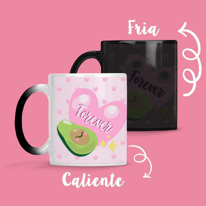 Taza Cambia Color Palta Lover - Space Store Chile