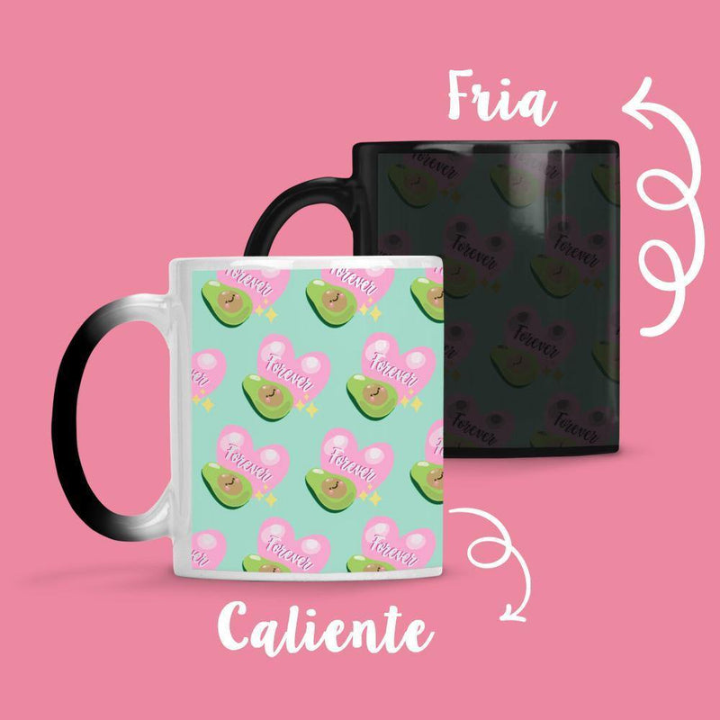 Taza Cambia Color Palta Forever - Space Store Chile