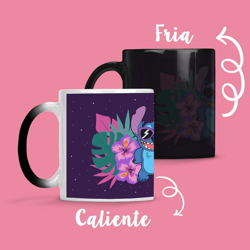Taza Cambia Color Stitch Hojas 1 - Space Store Chile