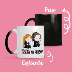 Taza Cambia Color Greys Anatomy White - Space Store Chile
