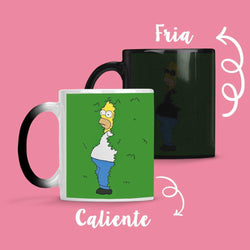 Taza Cambia Color Homero Arbusto
