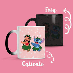 Taza Cambia Color Stitch y Lilo - Space Store Chile