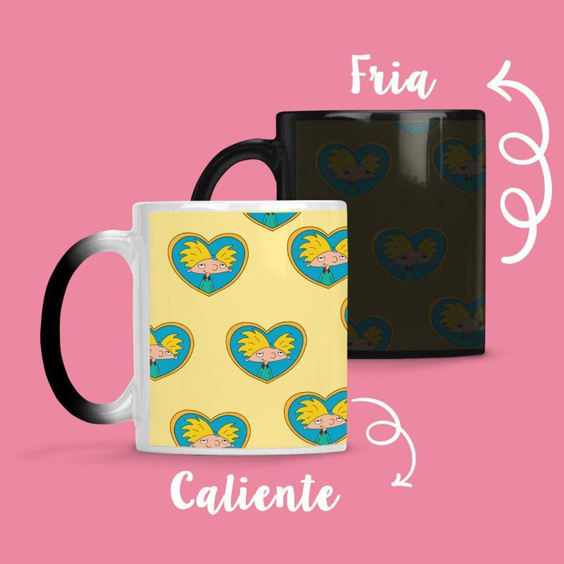 Taza Cambia Color Hey Arnol Yellow - Space Store Chile