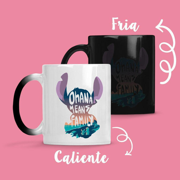 Taza Cambia Color Stitch Ohana - Space Store Chile