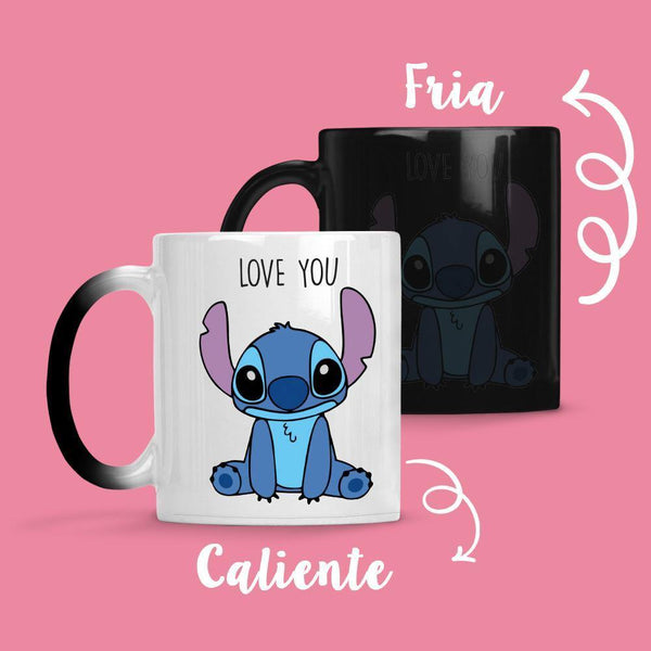 Taza Cambia Color Stitch I Love You - Space Store Chile
