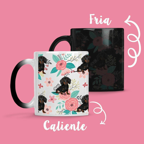 Taza Cambia Color Perrito Salchicha - Space Store Chile
